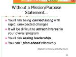 without a mission purpose statement21