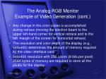 the analog rgb monitor example of video generation cont