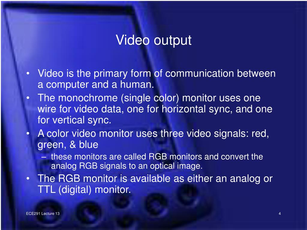 Video output