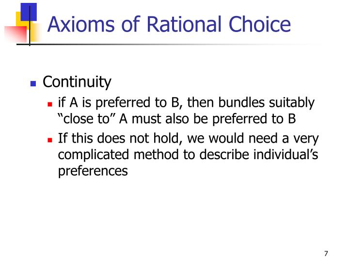 Axioms of Rational Choice