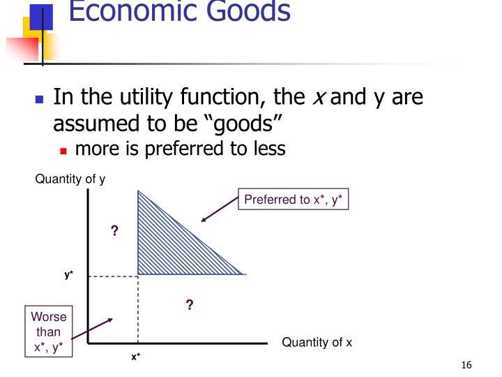 Economic Goods
