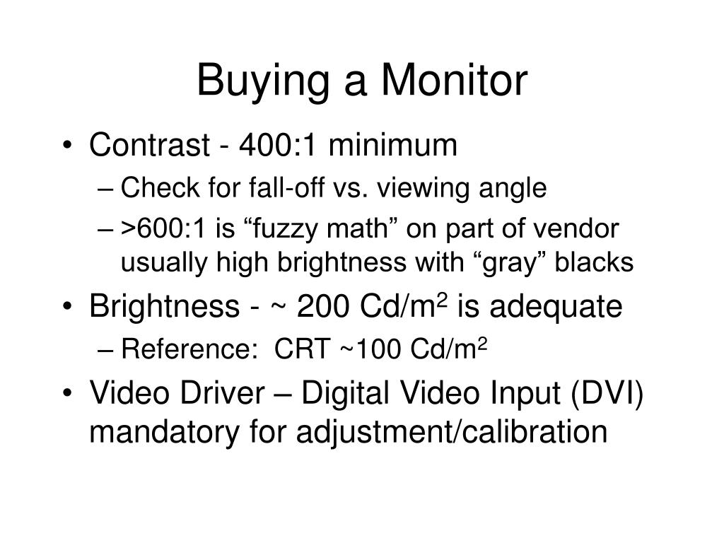 Buying a Monitor