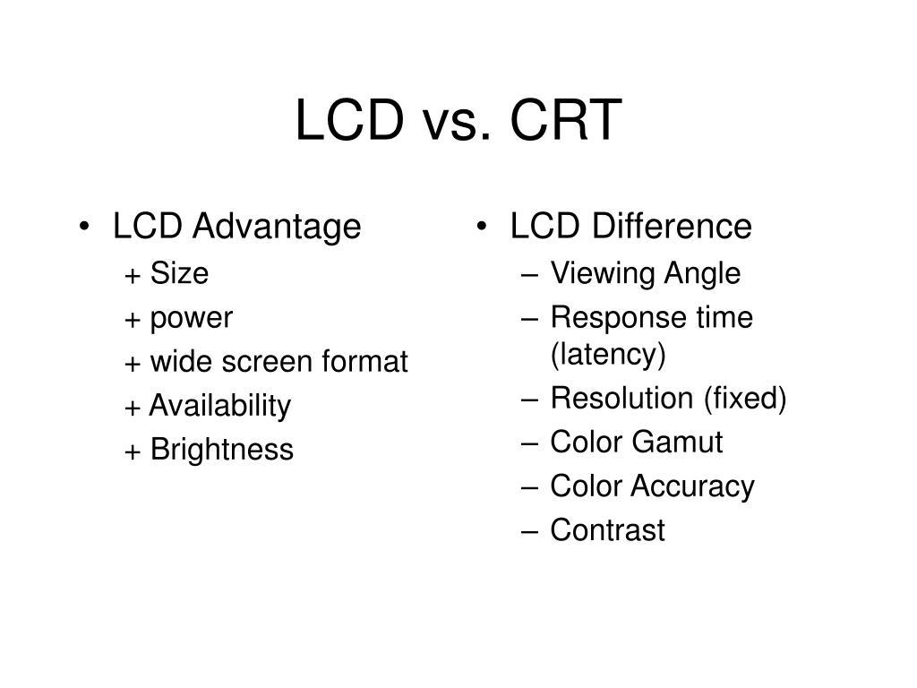 LCD Advantage