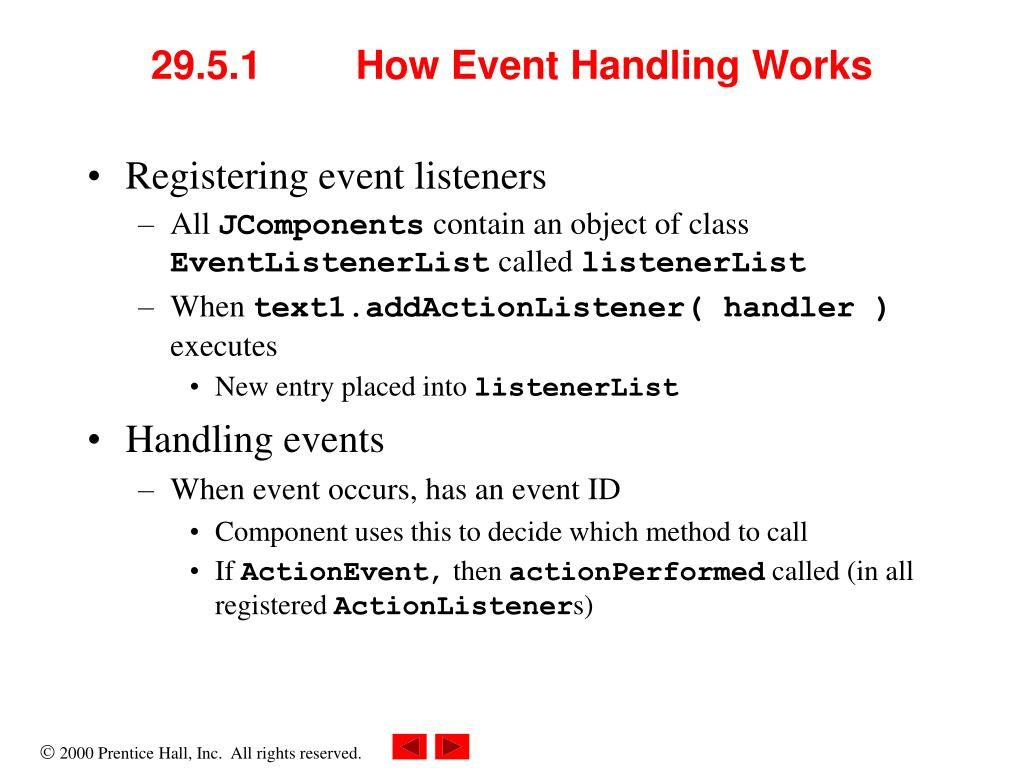 29.5.1	How Event Handling Works