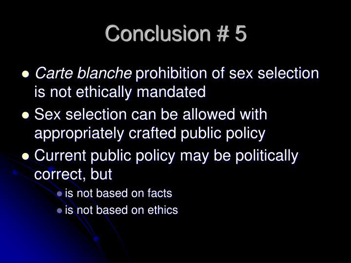 Conclusion # 5