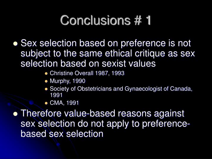 Conclusions # 1
