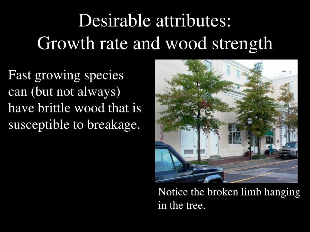 Desirable attributes: