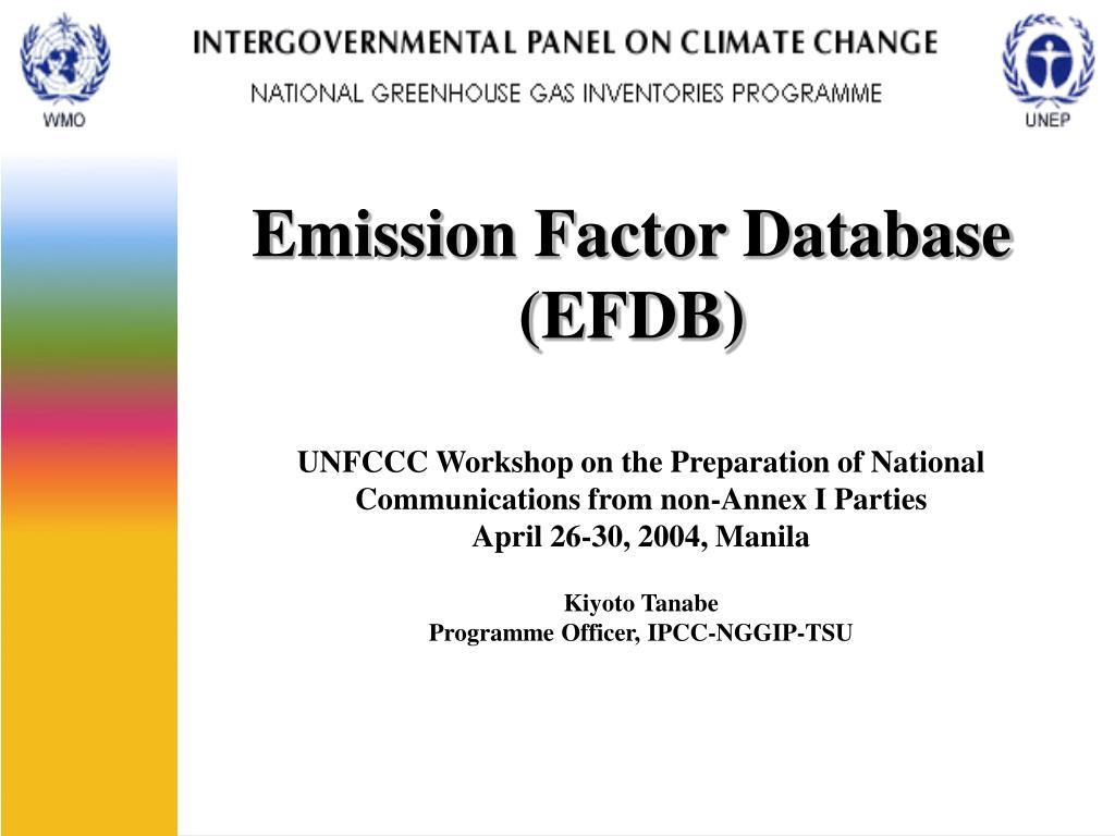 emission factor database efdb l.