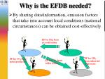 why is the efdb needed3