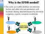 why is the efdb needed4
