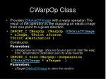 cwarpop class