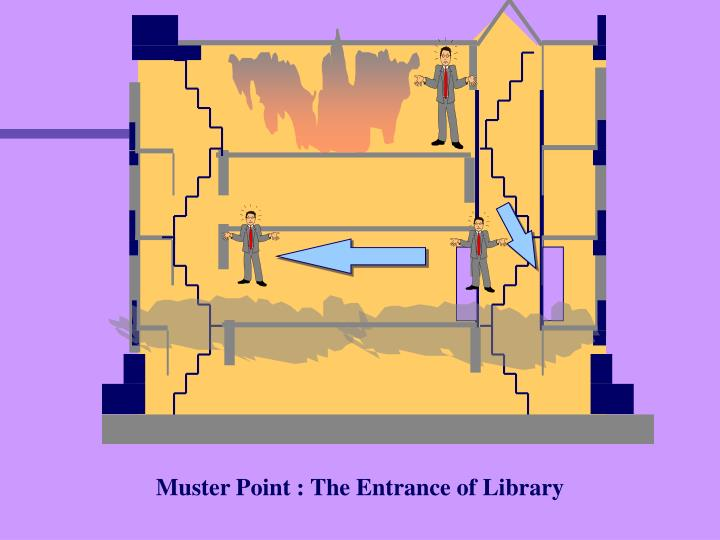 Muster Point : The Entrance of Library