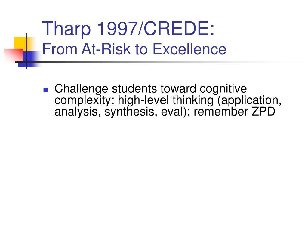Tharp 1997/CREDE: