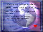 how many missions related bible verses can you think of