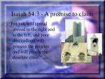 isaiah 54 3 a promise to claim