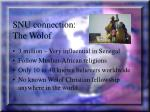 snu connection the wolof