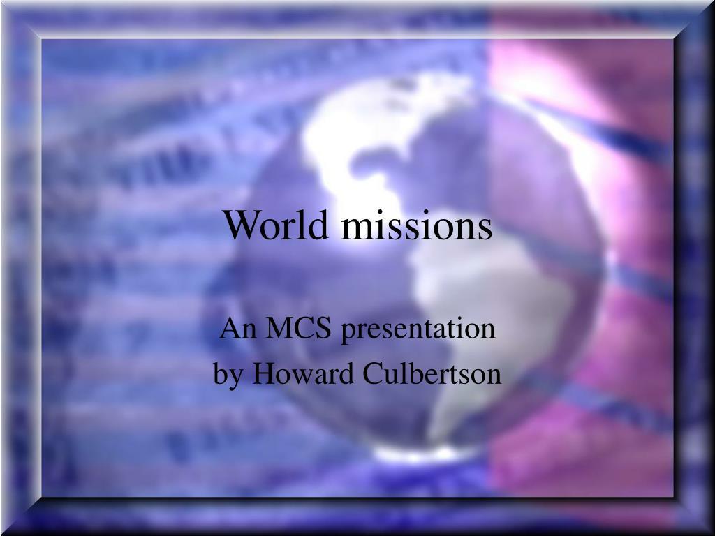 world missions l.