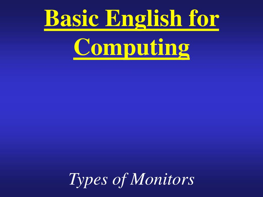 basic english for computing l.