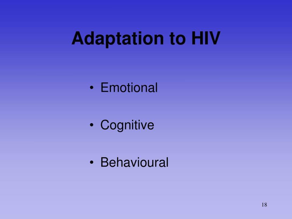 Adaptation to HIV