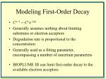 modeling first order decay