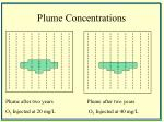 plume concentrations
