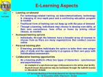 e learning aspects