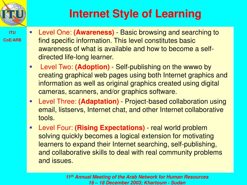 Internet Style of Learning