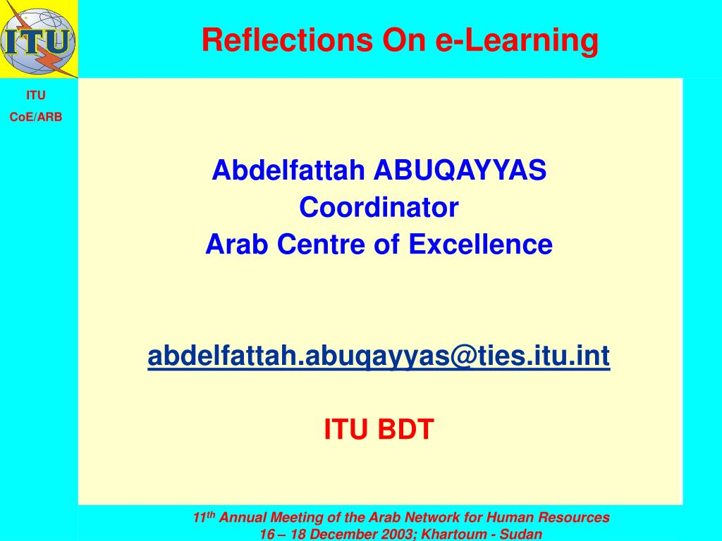 reflections on e learning l.