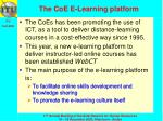 the coe e learning platform