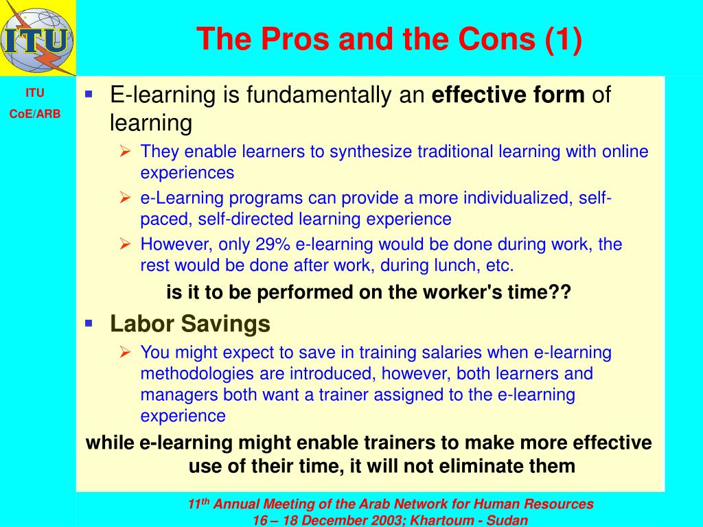 The Pros and the Cons (1)