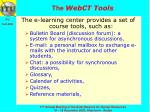 the webct tools