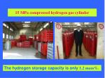15 mpa compressed hydrogen gas cylinder