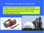 hydrogen storage in liquid state