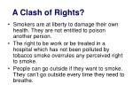 a clash of rights