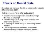 effects on mental state