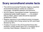 scary secondhand smoke facts