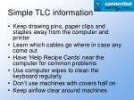 simple tlc information