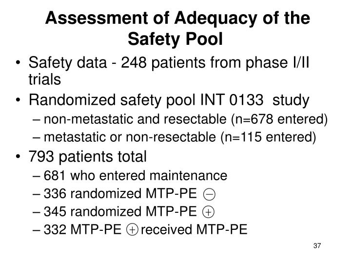 Assessment of Adequacy of the Safety Pool