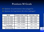 pentium m goals