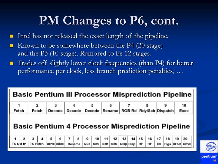 PM Changes to P6, cont.
