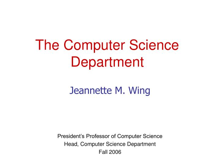 the computer science department n.