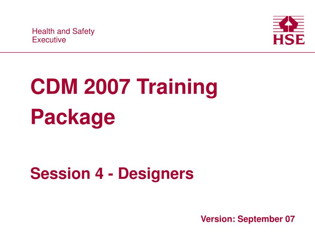 CDM 2007 Training Package