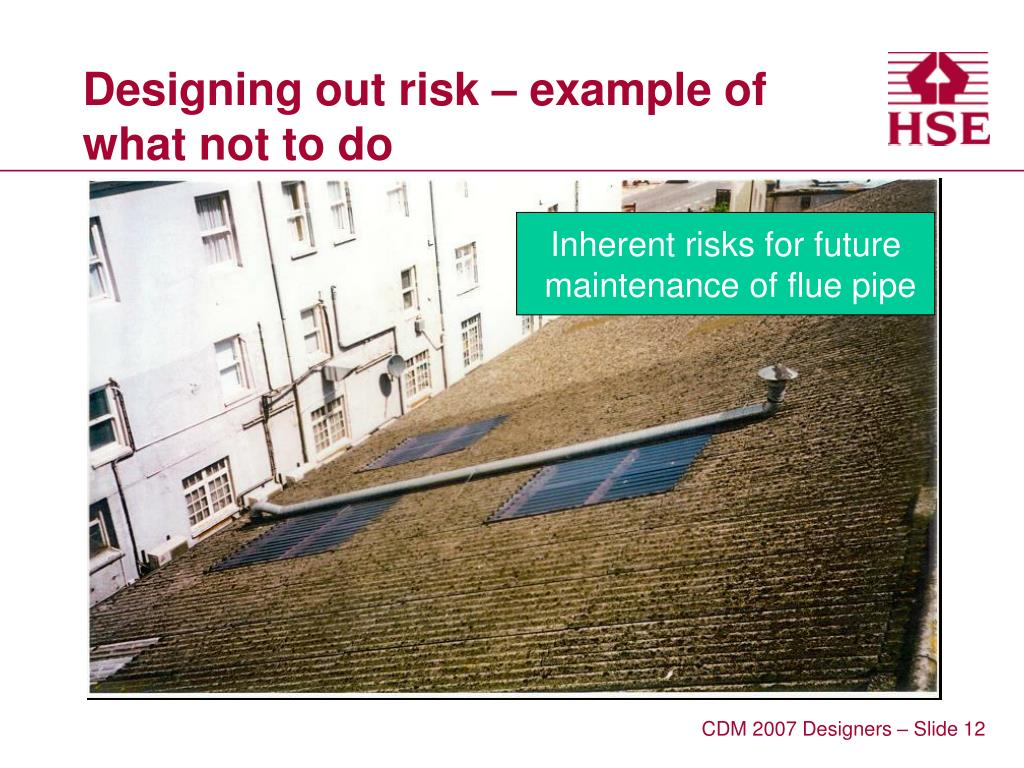 Designing out risk – example of what not to do