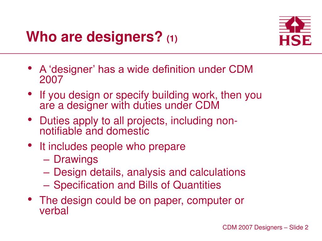 Who are designers?