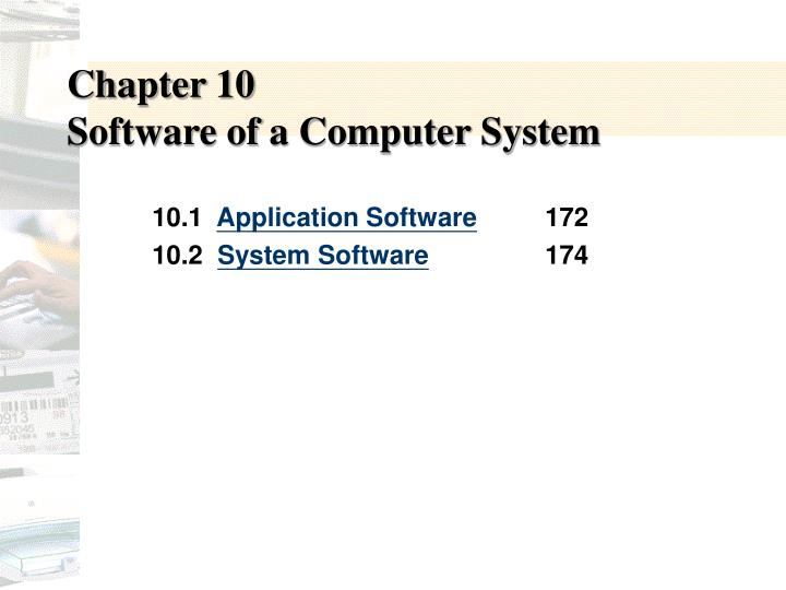 chapter 10 software of a computer system n.