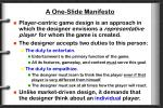a one slide manifesto