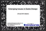 emerging issues in game design1