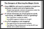 the dangers of blurring the magic circle
