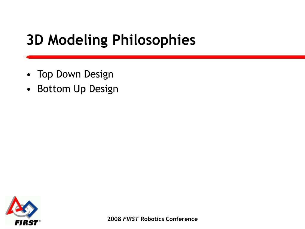 3D Modeling Philosophies
