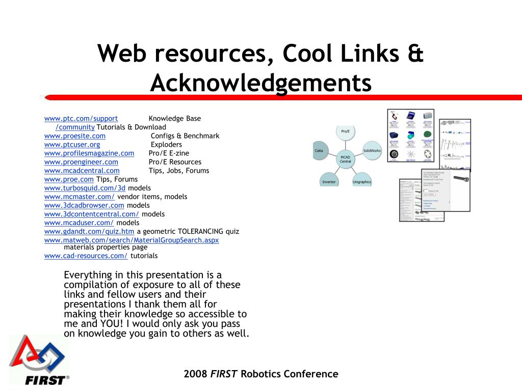 Web resources, Cool Links & Acknowledgements